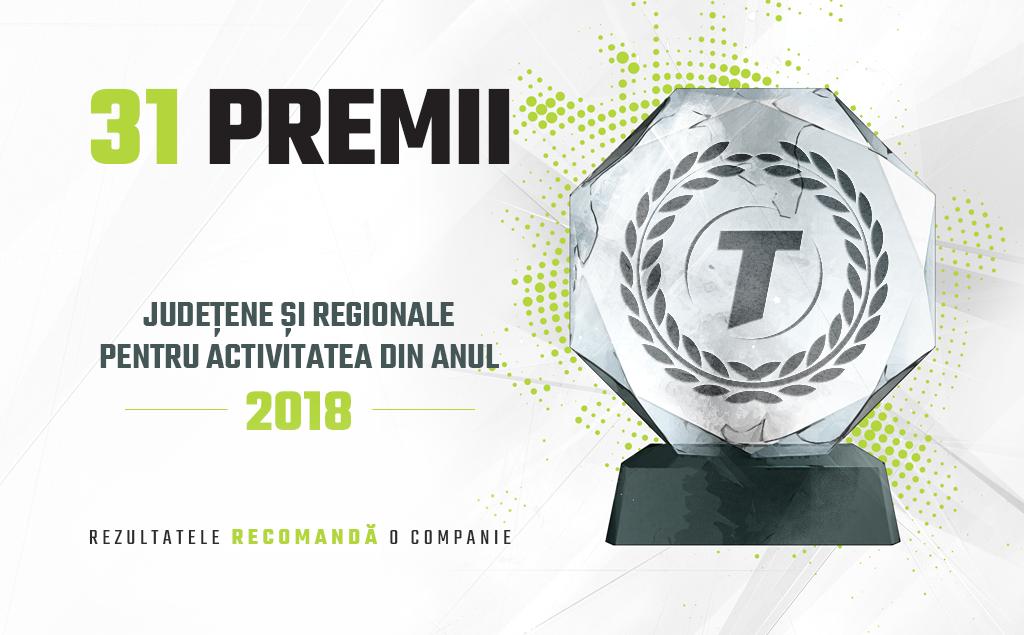 31 de premii pentru activitatea companiei Transilvania Broker din anul 2018