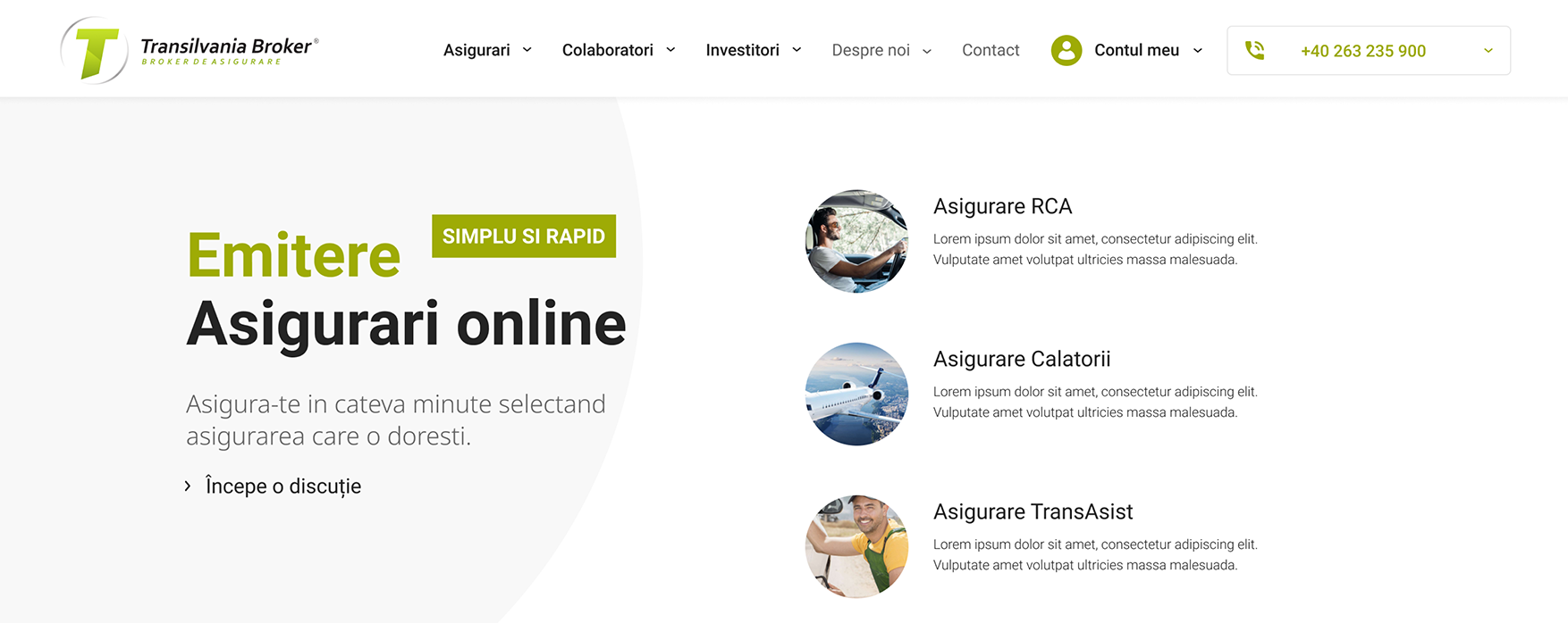 Emitere asigurari online Transilvania Broker