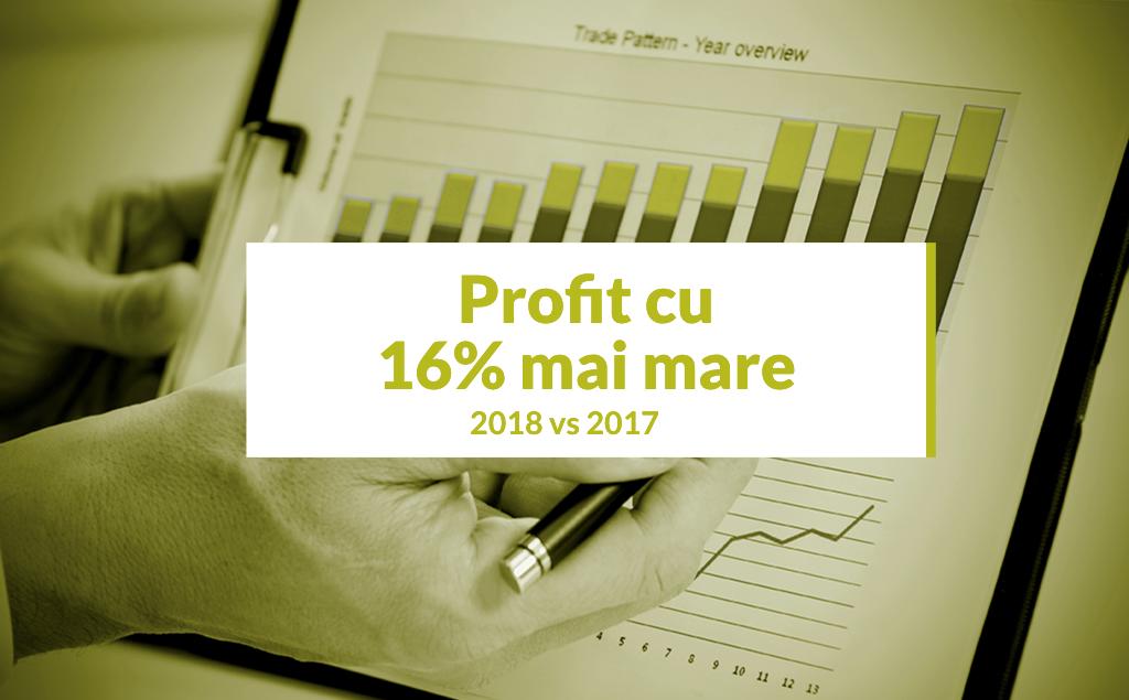 Creștere de 16,24% a Profitului Net în 2018 față de 2017