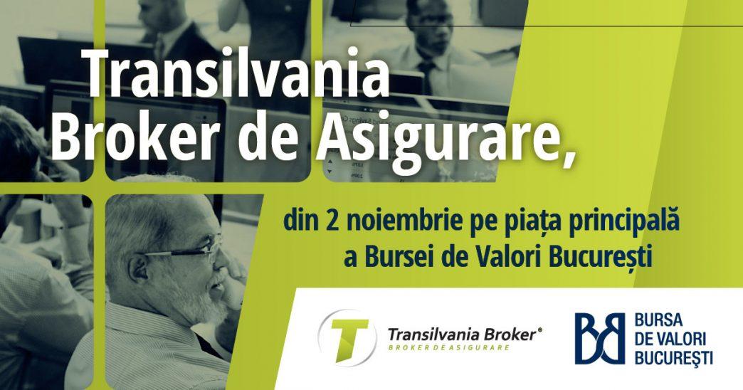 Actiunile Transilvania Broker intra la tranzactionare la Bursa de Valori Bucuresti